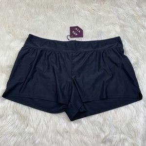 NWT Ava & Viv Swimsuit Bikini Bottom Shorts Modest